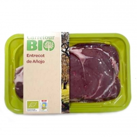 Entrecot de añojo ecológico Carrefour Bio 500 g aprox
