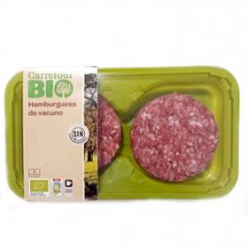 Hamburguesa de añojo ecológica Carrefour Bio bandeja 2 ud