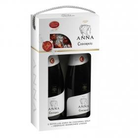 Cava Codorníu-Anna brut estuche de 2 botellas de 75 cl.
