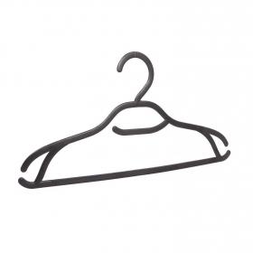 Set de Perchas de ropa de Plástico 0,5 x 42 x 23 cm  Negro