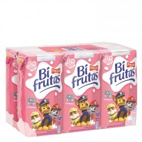 Zumo de fresa y plátano Bifrutas pack de 6 briks de 20 cl.