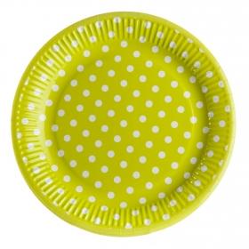 Set Platos Plástico CARREFOUR HOME  8 ud  23 cm - Verde