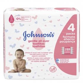 Toallitas para bebé Johnson's pack de 4 paquetes de 72 ud.
