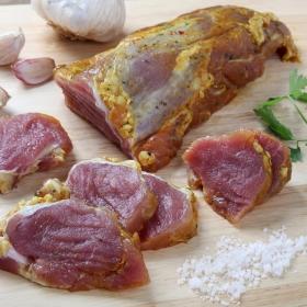 Solomillo de cerdo con miel y finas hierbas