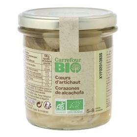 Corazones de alcachofas 5/8 ecológicos Carrefour Bio 200 g.
