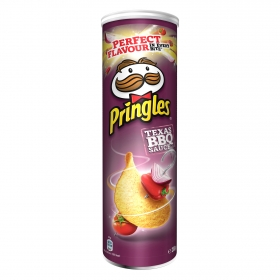 Aperitivo de patata sabor barbacoa Texas Pringles 200 g.