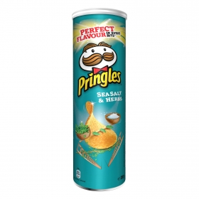 Aperitivo de patata sabor sales marinas e hierbas Pringles 200 g.