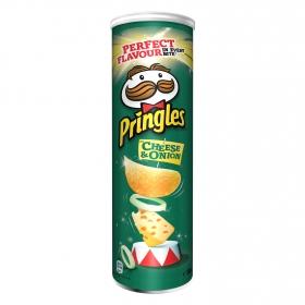 Aperitivo de patata sabor queso y cebolla Pringles 200 g.