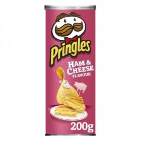 Aperitivo de patata sabor jamón y queso Pringles 200 g.