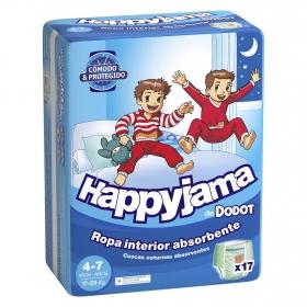 Pañales niño 4-7 años (17-29 kg.) Dodot Happyjamas 17 ud.