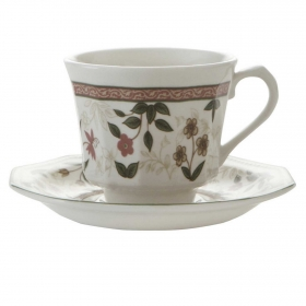 Set de 2 Taza té de Loza  Assam 4pz Decorado