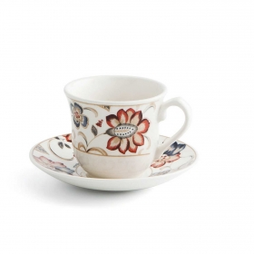 Set de 2 Taza té de Loza  Jacobean 4pz Decorado