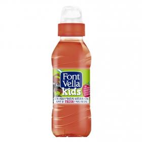 Agua mineral Font Vella kids con zumo de fresa 25 cl.