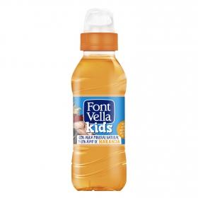 Agua mineral Font Vella kids con zumo de naranja 25 cl.