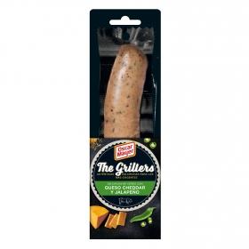 Salchichas de cerdo con queso cheddar y jalapeño The Grillers Oscar Mayer 78 g.