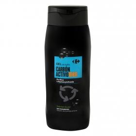 Gel de baño purificante carbón activo men Carrefour 500 ml.