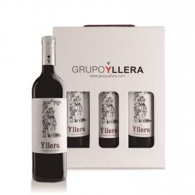 LOTE 80: 3 botellas Vino de la Tierra de Castilla y León Yllera tinto 12 meses de barrica 75 cl.