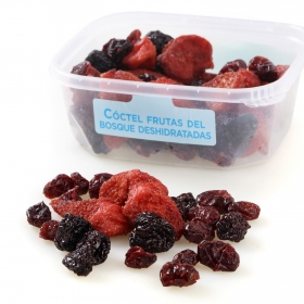 Coctel frutas del bosque deshidratadas Carrefour tarrina 200 g (arandanos, cereza y fresa)