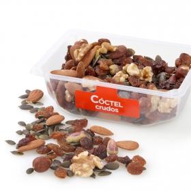 Coctel frutos secos crudos Carrefour tarrina 250 g (pasa, pipa calabaza, nuez, avellana, almendra y pistacho)