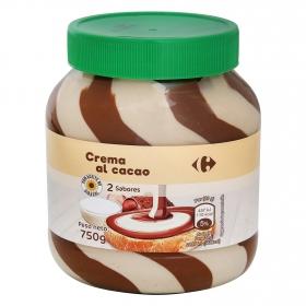 Crema de cacao con leche y avellanas Carrefour 750 g.