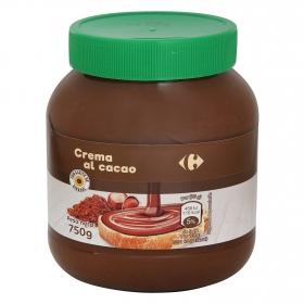 Crema de cacao y avellanas Carrefour 750 g.