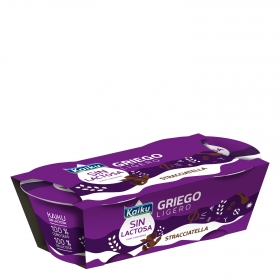 Yogur griego de stracciatella Kaiku sin lactosa pack de 2 unidades de 90 g.