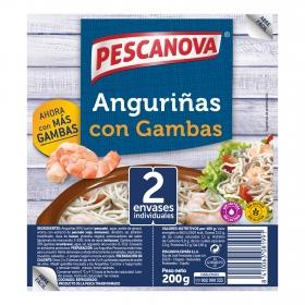 Anguriñas con gambas Pescanova 225 g