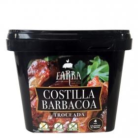 Costillas a la barbacoa troceada Earra sin gluten y sin lactosa 500 g.