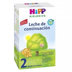 Leche 2 de continuación en polvo ecológica Hipp 600 g.