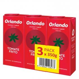 Tomate frito Orlando sin gluten pack de 3 briks de 350 g.