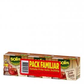Tomate frito Solis pack de 3 briks de 200 g.