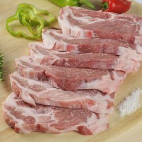 Chuletas de aguja de cerdo