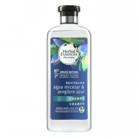 Champú revitaliza agua micelar & jengibre azul Herbal Essence 400 ml.