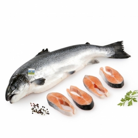 Salmón Carrefour Calidad y Origen Pieza de 1 a 3 kg aprox