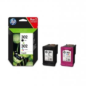 Pack de 2 Cartuchos de Tinta HP 302 - Negro/Tricolor