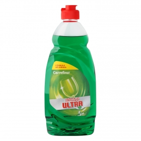 Lavavajillas a mano concentrado ultra Carrefour 500 ml.
