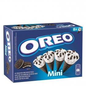 Conos con helado de nata y galleta Oreo 8 ud.