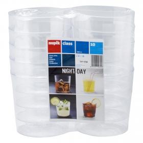 10 Vasos Pinta de Plástico NUPIK  8,2x8cm - Transparente