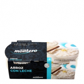 Arroz con leche Montero pack de 2 unidades de 125 g.