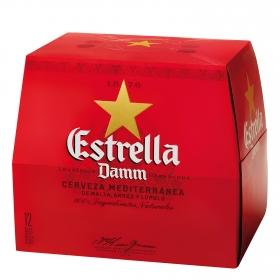 Cerveza Estrella Damm mediterránea pack de 12 botellas de 25 cl.