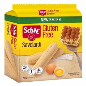 Bizcochos Savoiardi Schär sin gluten sin lactosa 200 g.
