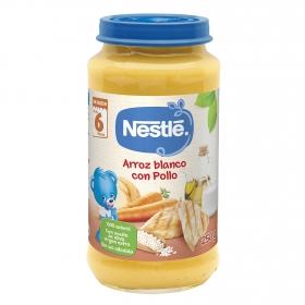 Tarrito de arroz con pollo desde 6 meses sin sal añadida Nestlé sin gluten 250 g.
