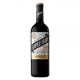 Vino D.O. Rioja tinto crianza Hacienda López de Haro 1,5 l.