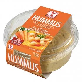 Hummus con zanahoria y cilantro Ygriega 220 g.