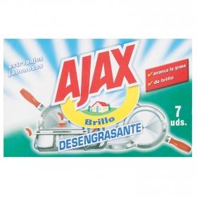 Estropajos  Jabonosos Ajax 7 ud