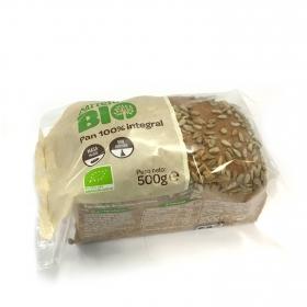Pan 100% integral ecológico con pipas de girasol Carrefour Bio 1 ud