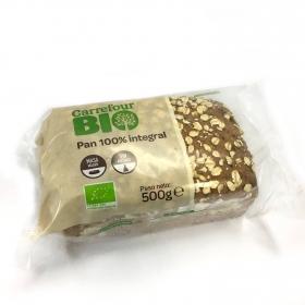 Pan 100% integral ecológico con cereales de avena Carrefour Bio 1 ud