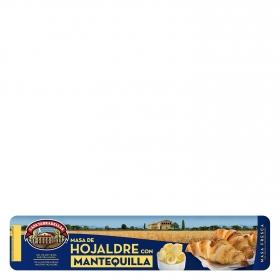 Masas de hojaldre con mantequilla