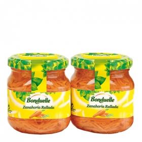 Zanahoria rallada Bonduelle pack de 2 unidades de 110 g.