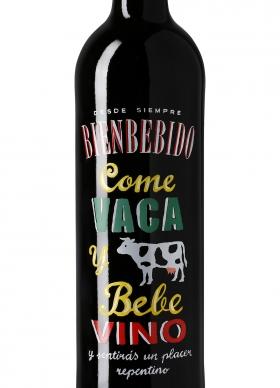 Bienbebido Come Vaca y Bebe Vino Tinto con crianza 2013